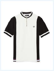 FRED PERRY(フレッドペリー)/コントラストパネルポロシャツ(M8492) Black -送料無料-