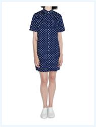 FRED PERRY(フレッドペリー)/レディースドットシャツドレス(D8793) Medieval Blue -送料無料-
