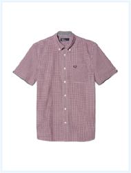 FRED PERRY(フレッドペリー)/クラシックギンガムボタンダウンシャツ(M6378J) Mahogany -送料無料-
