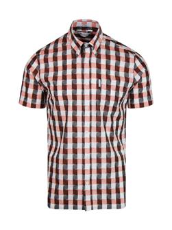 Ben Sherman ベンシャーマン / アーカイブチェックボタンダウンシャツ(PRINCETON) Orange -送料無料-