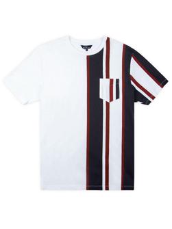 Ben Sherman ベンシャーマン / 60s モッド クラシックモッドストライプTシャツ White -送料無料-