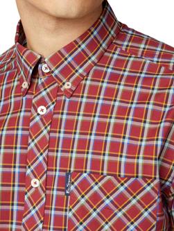 Ben Sherman ベンシャーマン / 60s モッド クラシックチェックボタンダウンシャツ Red -送料無料-