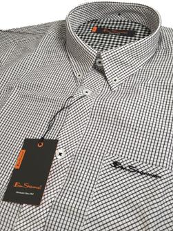 Ben Sherman ベンシャーマン / グラフチェックボタンダウンシャツ White -送料無料-