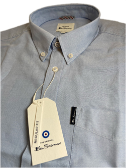 Ben Sherman ベンシャーマン / 60s モッド オックスフォードボタンダウンシャツ Sky -送料無料-