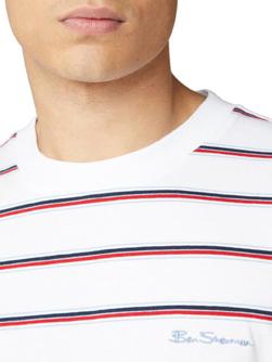 Ben Sherman ベンシャーマン / 60s モッド ヴィンテージヤーンダイマルチボーダーTシャツ White -送料無料-