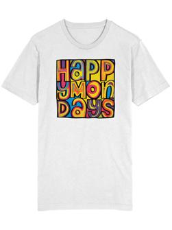 Import T-Shirt 英国直輸入 / Happy Mondays Tシャツ White -送料無料-
