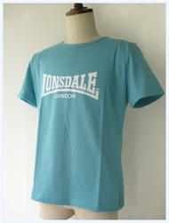 LONSDALE(ロンズデール)/ベーシックTシャツ(L6106) Sax