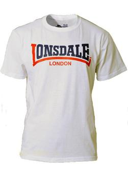 LONSDALE ロンズデール / ツートーンロゴプリントTシャツ White -送料無料-